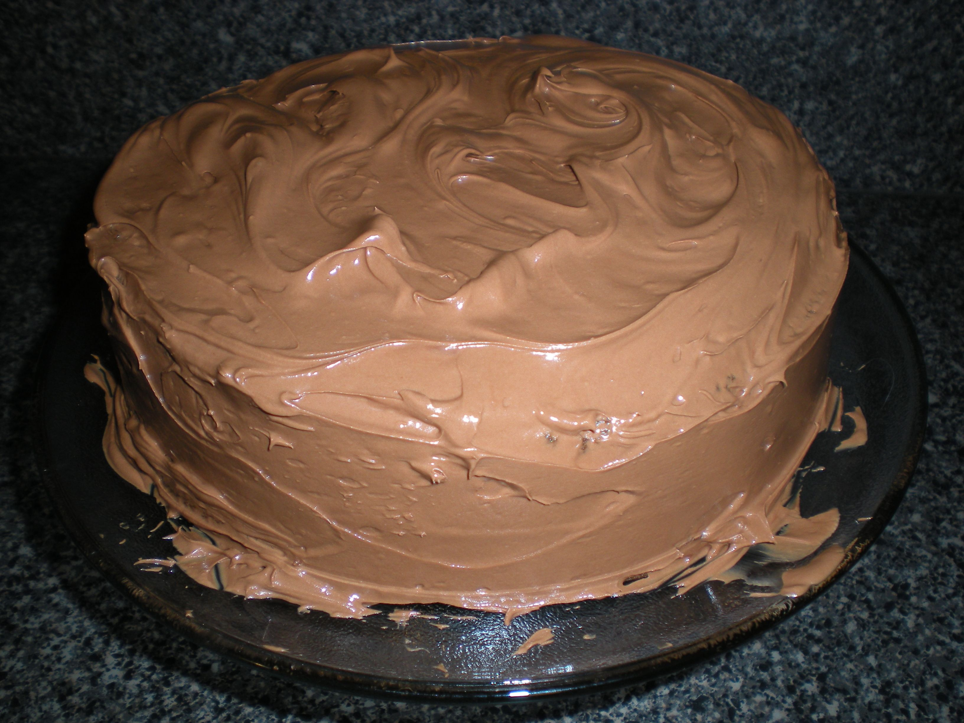 Dashiell's homemade chocolate birthday cake