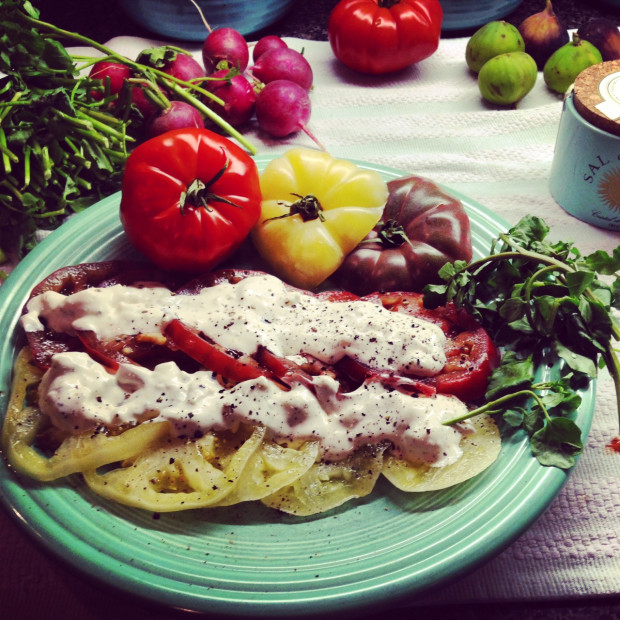 tomatoes with blue cheese